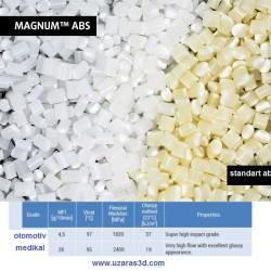UZARAS Magnum Pro ABS Automotive 1.75mm 1000gr Filament Naturel Makarasız